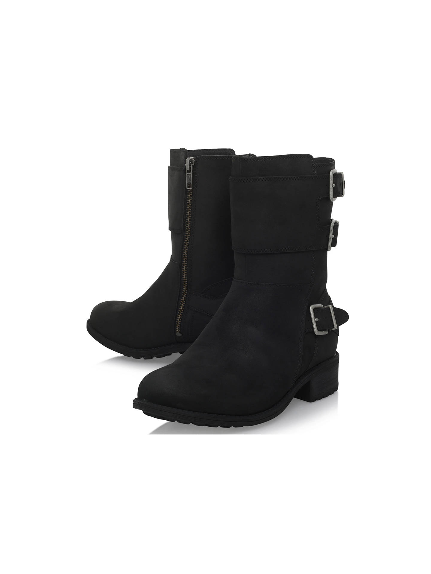 19b013c69b5 UGG Wilcox Buckle Ankle Boots, Black at John Lewis & Partners