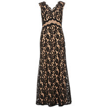 Buy Gina Bacconi Lace Maxi Dress, Black/Beige Online at johnlewis.com