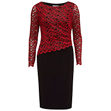 Buy Gina Bacconi Zig Zag Sparkle Dress, Red/Black Online at johnlewis.com