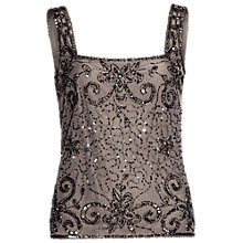 Buy Gina Bacconi Bead And Sequin Cami, Pewter Online at johnlewis.com