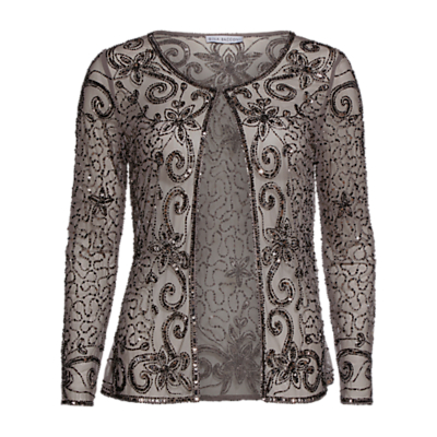 Gina Bacconi Bead And Sequin Jacket, Pewter