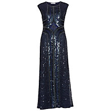 Buy Gina Bacconi Beaded Maxi Dress, Navy Online at johnlewis.com