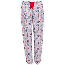 Buy Cyberjammies Heidi Floral Print Pyjama Bottoms, Red/Blue Online at johnlewis.com
