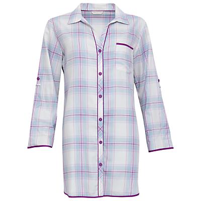 Cyberjammies Elsie Check Night Shirt, Blue/Purple