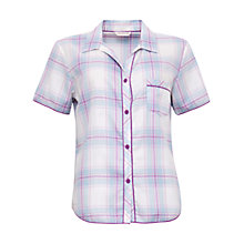 Buy Cyberjammies Elsie Check Short Sleeve Top, Blue/Purple Online at johnlewis.com