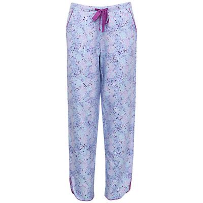 Cyberjammies Elsie Spot Print Pyjama Bottoms, Blue/Purple