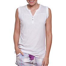Buy Cyberjammies Elsie Button Placket Pyjama Top, White Online at johnlewis.com