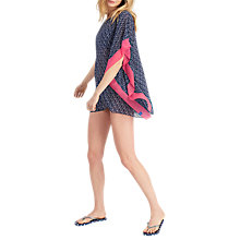 Buy Joules Rosanna Shell Print Kaftan, French Navy Online at johnlewis.com