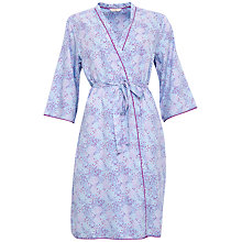 Buy Cyberjammies Elsie Spot Print Dressing Gown, Blue/Purple Online at johnlewis.com