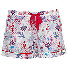 Buy Cyberjammies Heidi Floral Print Pyjama Shorts, Red/Blue Online at johnlewis.com
