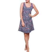 Buy Cyberjammies Louisa Pansy Print Chemise, Grey/Multi Online at johnlewis.com