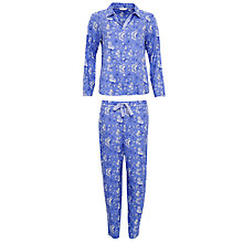Buy Cyberjammies Vienna Floral Print Pyjama Set, Blue/Multi Online at johnlewis.com