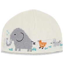 Buy John Lewis Baby Elephant and Friends Hat, Cream Online at johnlewis.com