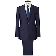 Buy HUGO by Hugo Boss C-Jeys/C-Shaft Chalk Stripe Regular Fit Suit, Medium Blue Online at johnlewis.com