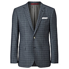 Buy HUGO by Hugo Boss C-Hutsons Window Check Slim Fit Blazer, Navy Online at johnlewis.com