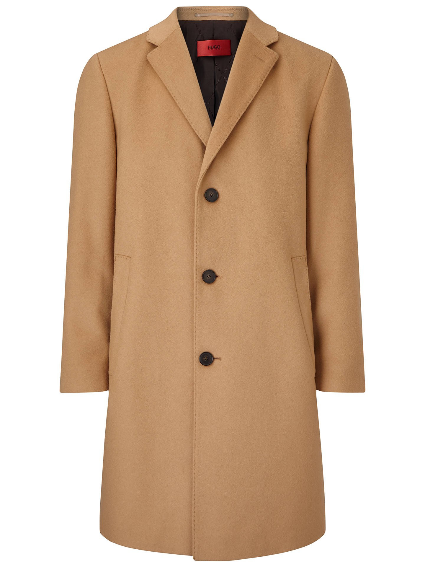 3d932c63c Buy HUGO by Hugo Boss Stratus Overcoat, Camel, 38R Online at johnlewis.com  ...