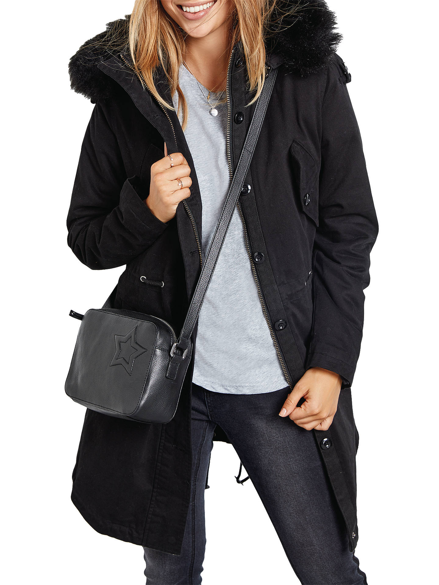 Buy hush Parka, Black/Black, 6 Online at johnlewis.com