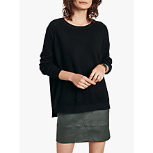 Buy hush Cashmere Boyfriend Jumper, Black Online at johnlewis.com