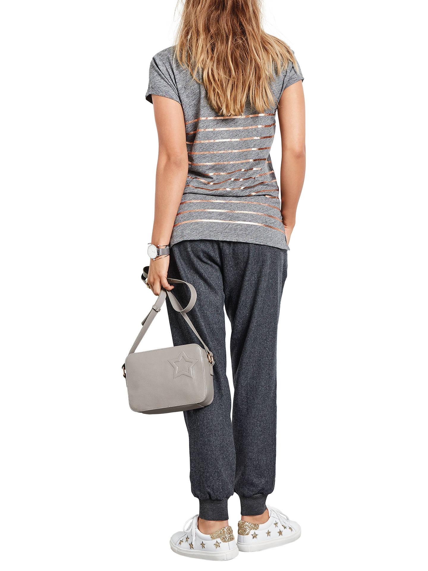 7059100811ede hush Stripe Print Cotton V-Neck T-Shirt at John Lewis   Partners