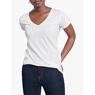 hush Cotton Slub V-Neck T-Shirt