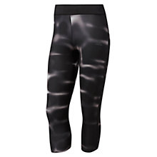 Buy Adidas Response 3/4 Length Abstract Print Running Tights, Black Online at johnlewis.com