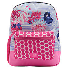 Buy Joules Posy Stripe Children's Rucksack, Pink/Purple Online at johnlewis.com
