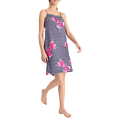 Joules Cherie Orchid Stripe Chemise, Navy Floral