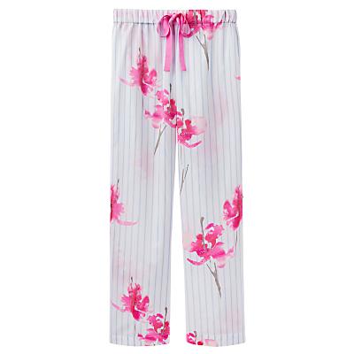 Joules Caroll Orchid Stripe Pyjama Bottoms, Blue/Pink