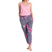 Buy Joules Siesta Orchid Stripe Pyjama Bottoms, Navy Floral Online at johnlewis.com