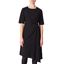 Buy John Lewis Drape Dress, Black Online at johnlewis.com