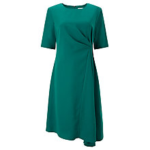 Buy John Lewis Drape Dress, Green Online at johnlewis.com