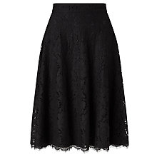 Buy John Lewis Full Lace Skirt, Black Online at johnlewis.com