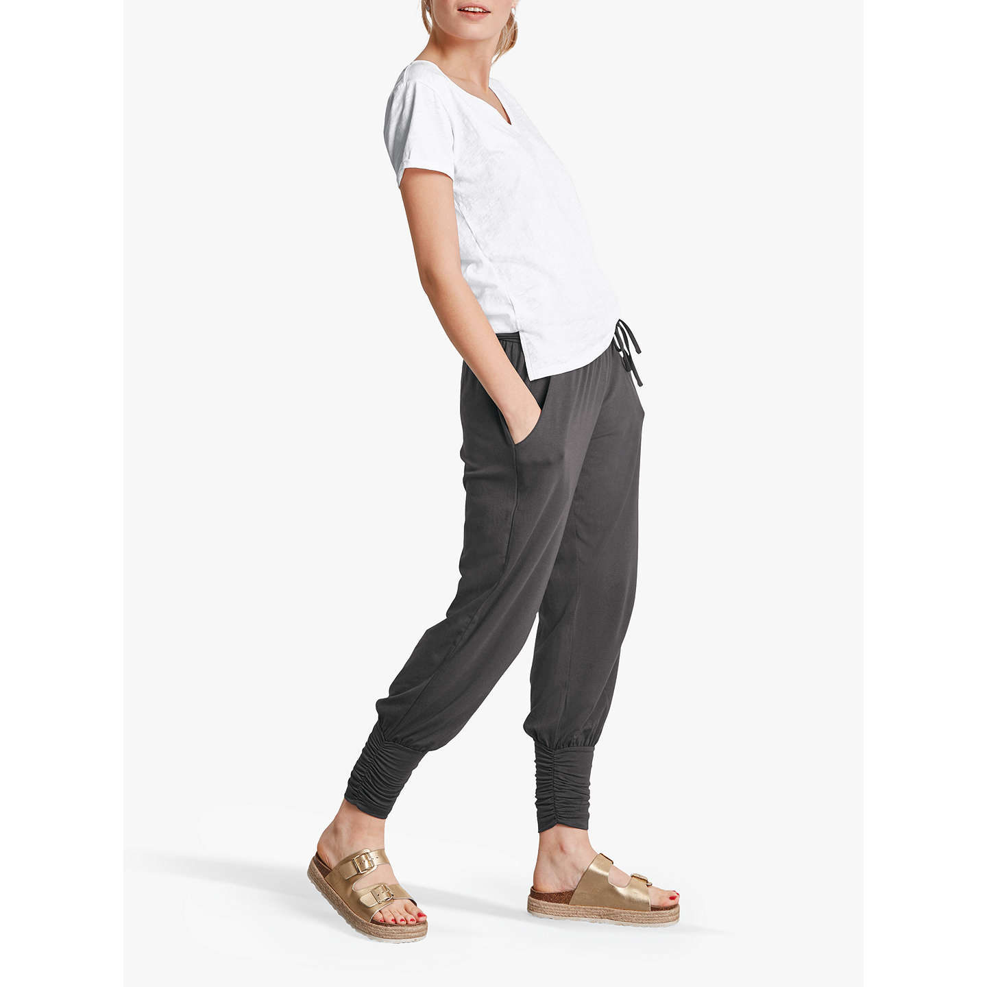 Buyhush Long Haram Trousers, Charcoal, XS Online at johnlewis.com