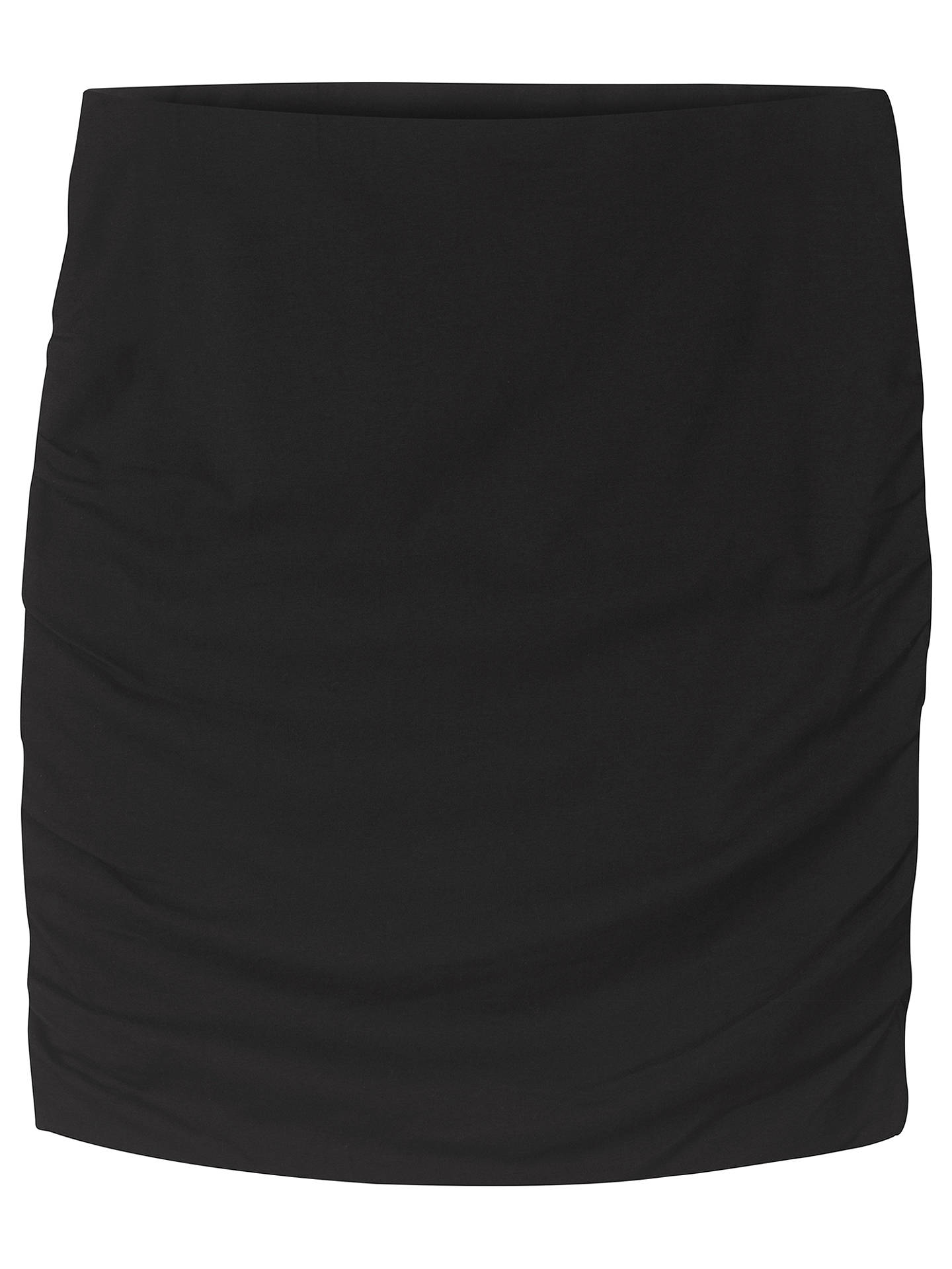 Buyhush Modal Ruched Skirt, Black, XS Online at johnlewis.com
