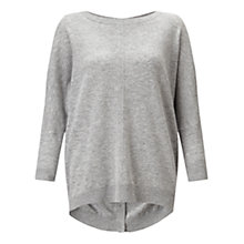 Buy Jigsaw Button Back Drop Hem Jumper Online at johnlewis.com