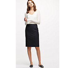 Buy Jigsaw Flecked Tailoring Pencil Skirt, Navy Online at johnlewis.com
