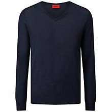 Buy HUGO by Hugo Boss San Carlo V-Neck Slim Fit Jumper Online at johnlewis.com