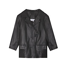Buy Gerard Darel Seine Leather Jacket, Black Online at johnlewis.com