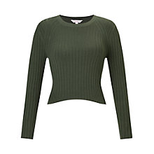 Buy Miss Selfridge Petite Cropped Rib Jumper Online at johnlewis.com