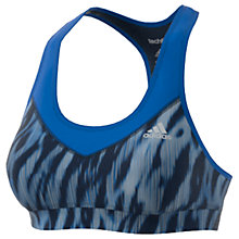 Buy Adidas Techfit Sports Bra, Blue/Multi Online at johnlewis.com