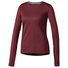 Buy Adidas Supernova Long Sleeve Running T-Shirt, Maroon Online at johnlewis.com