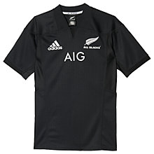 Buy Adidas New Zealand All Blacks 2016/17 Home Rugby Shirt, Black Online at johnlewis.com