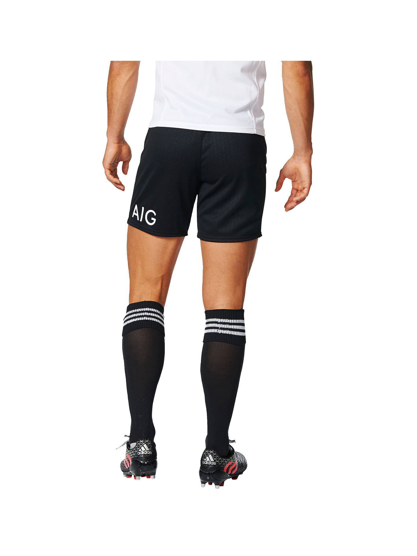 a4be5087dc3 ... Buy Adidas New Zealand All Blacks 2017 Home Rugby Shorts, Black, S  Online at ...