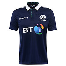 Buy Macron Scotland Rugby 2016/17 Home Replica Shirt, Blue Online at johnlewis.com