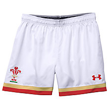 Buy Under Armour Official Welsh Rugby Union 2015/16 Game Shorts, White Online at johnlewis.com