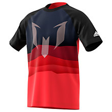 Buy Adidas Boys' Messi Graphic Cotton Football T-Shirt, Red Online at johnlewis.com