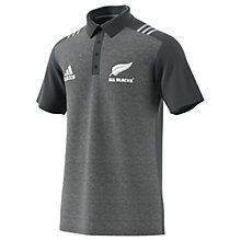 Buy Adidas New Zealand All Blacks Rugby Polo Shirt, Black Online at johnlewis.com