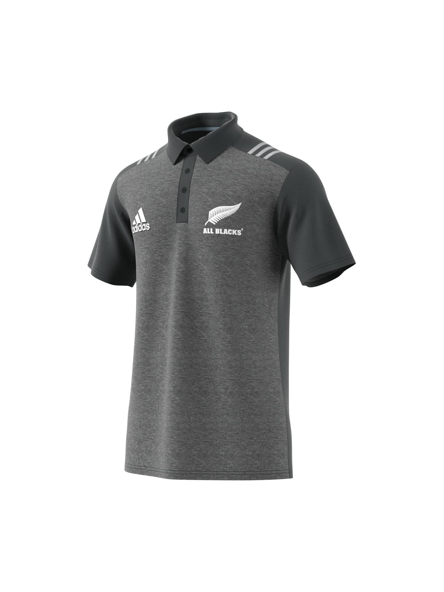 adidas Mens New Zealand All Blacks 2018 Rugby Polo Shirt T-Shirt Top Black