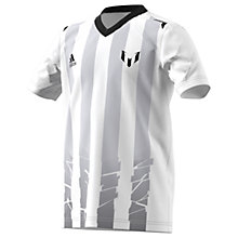 Buy Adidas Boys' Messi Icon Football T-Shirt, White/Black Online at johnlewis.com