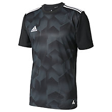 Buy Adidas Tango Cage Graphic Football Jersey Top, Black Online at johnlewis.com